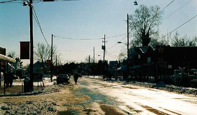 down town snow